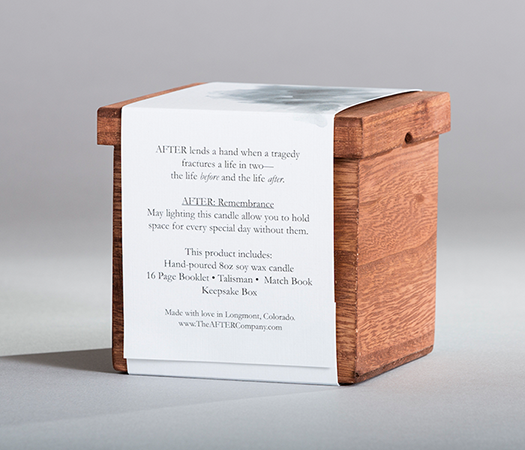 The AFTER Company Remembrance Sympathy Box Back
