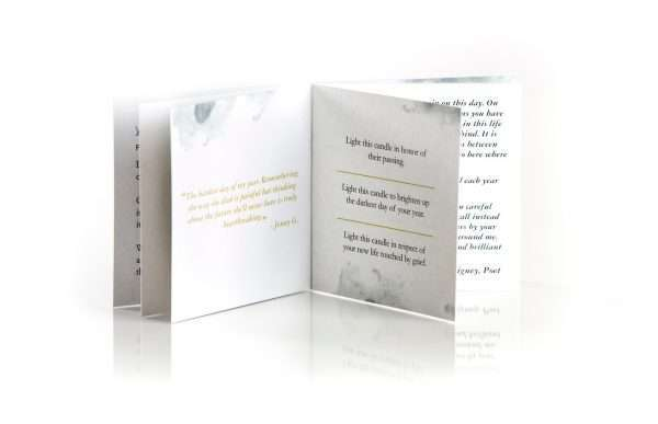 Deathiversary Sympathy Inspirational Booklet